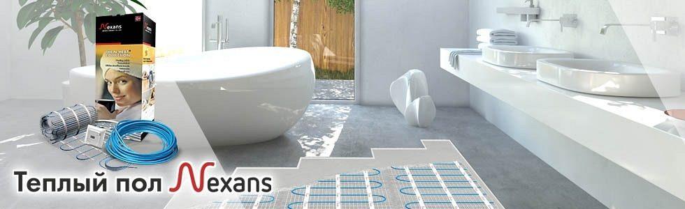 При покупке  теплого  пола Nexans скидка  -50% на терморегулятор Nexans N-Comfort
