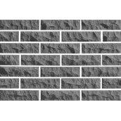 Цегла облицювальна ECOBRICK скеля рваний камінь 250x100x65 мм світло-сірий
