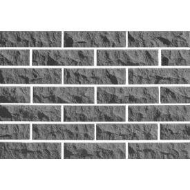 Кирпич облицовочный ECOBRICK скала рваный камень 250x100x65 мм светло-серый