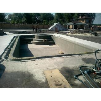Строительство железобетонного цельнолитого бассейна