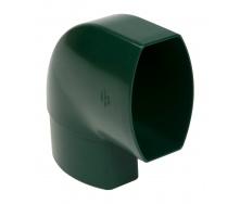 Отвод по плоскости стены Nicoll 28 OVATION 90° 80 мм зеленый