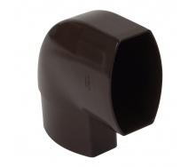 Отвод по плоскости стены Nicoll 28 OVATION 90° 80 мм коричневый