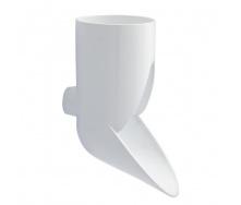 Отвод сливной декоративный Nicoll 80 мм белый
