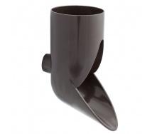 Отвод сливной декоративный Nicoll 80 мм коричневый