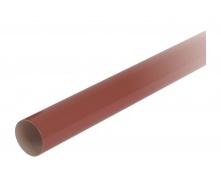 Труба водосточная с муфтой Nicoll 80 мм красный