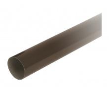 Труба водосточная с муфтой Nicoll 33 100 мм коричневий