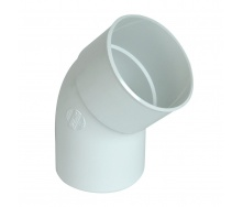 Отвод Nicoll 33 45° 100 мм белый