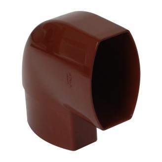 Отвод по плоскости стены Nicoll 28 OVATION 90° 80 мм красный
