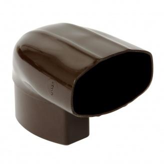 Отвод Nicoll 28 OVATION 90° 80 мм коричневый