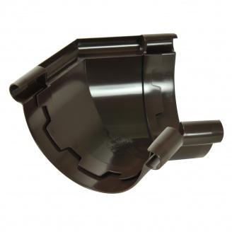 Угол желоба 135° Nicoll 25 ПРЕМИУМ 115 мм коричневый