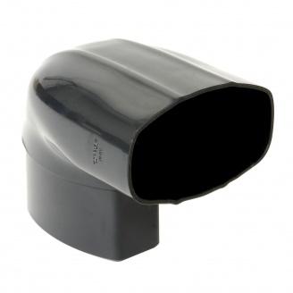 Отвод Nicoll 28 OVATION 90° 80 мм темно-серый