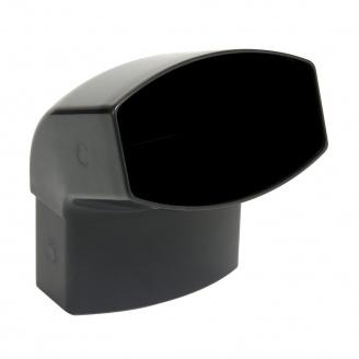 Отвод Nicoll 28 OVATION 67° 80 мм темно-серый