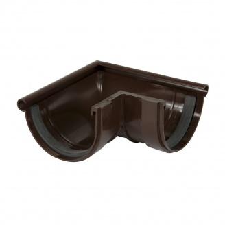 Угол желоба наружный 90° Nicoll 25 ПРЕМИУМ на резиновых уплотнителях 115 мм коричневый
