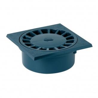 Сифон підлоговий з внутрішнім затвором Nicoll 150х150 мм чорний