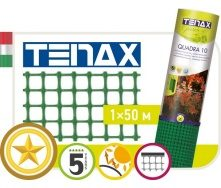 Полімерна сітка TENAX Квадра 10 1х50 м зелена