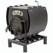 Піч булер'ян опалювально-варильна Hott 00 зі склом та перфорацією 100 м3 8 кВт