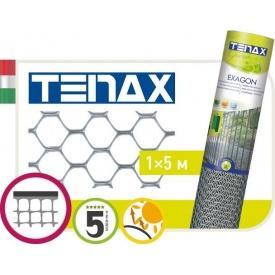 Сетка полимерная TENAX Эксагон 1х5 м серебряная