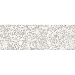 Плитка Opoczno Pret a Porter white inserto flower 25x75 см