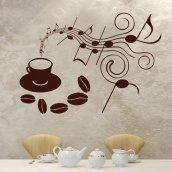 Настінна наклейка Uzuri Музика кави 800х570 мм