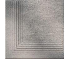 Ступень угловая Opoczno Solar steptread corner structure G1 30х30 см grey