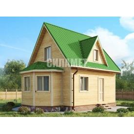 Проект будинку з терасою під ключ C-67 6х8 м