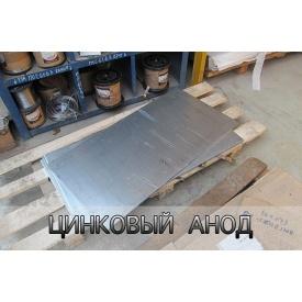 Цинковий Анод 10х500х1000 мм Ц0 ГОСТ 118091