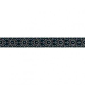 Фриз Paradyz Piumetta Nero А 70х595х11 мм