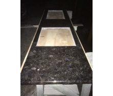 Столешница кухонная Galactic Blue из лабрадорита 600х20 мм