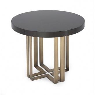 Столик кофейный D60 см натуральный камень+металл