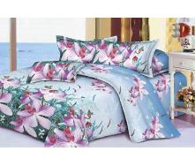 Комплект постельного белья Restline 106 Дикая орхидея 3D Полуторный микросатин 150х215 см
