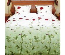 Комплект постельного белья ТЕП 533 Маки зеленые Полуторный бязь 215х150 см
