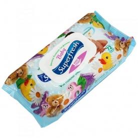 Влажные салфетки для детей и мам с клапаном 72 шт