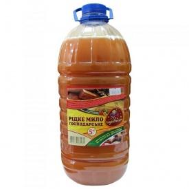 Жидкое хозяйственное мыло Розумниця персик 5 л