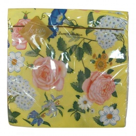 Салфетки Luxy Английская роза желтая 33x33 20 шт