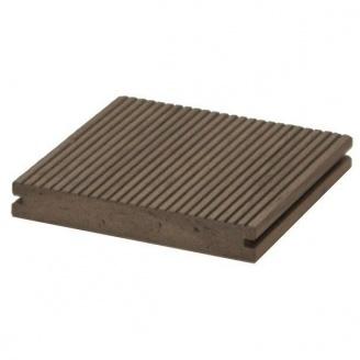 Террасная доска Woodplast Bruggan Multicolor полнотелая 130х19x2200 мм gray