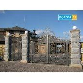 Распашные кованые ворота 3500х2000 мм