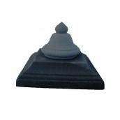 Крышка на столб Звон 450х450 мм черная