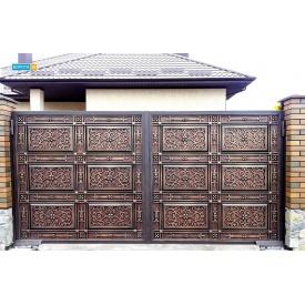 Откатные кованые ворота 6500х2000 мм