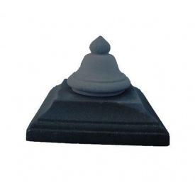 Кришка на стовп Дзвін 450х450 мм чорна