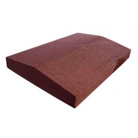 Парапет прессованный широкий 390х270х60 мм красный