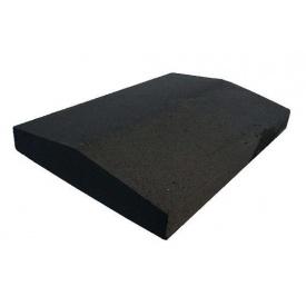 Парапет прессованный широкий 390х270х60 мм черный