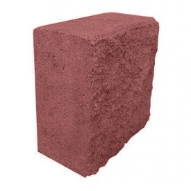 Блок декоративний половинка 90х190х190 мм червоний