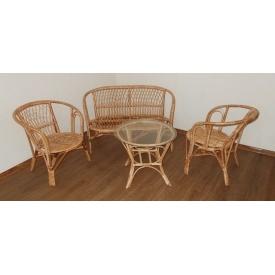 Комплект плетенной мебели из лозы модель Багама Кофе