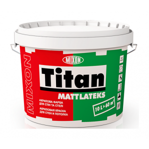 Акрилова фарба Mixon Титан Матлатекс 10 л білий
