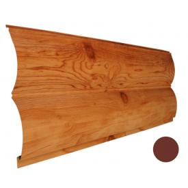 Блок-хаус металлический Никобуд Бревно 0,4х361х6000 мм красная окись (RAL 3009)