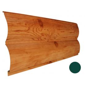 Блок-хаус металлический Никобуд Бревно 0,4х361х6000 мм зеленый мох (RAL 6005)