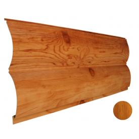 Блок-хаус металлический Никобуд Бревно 0,4х361х6000 мм вишня (ОМО 6)