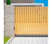 Откатные ворота Alutech Elegant деревянная доска