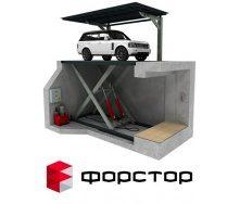 Подземный гараж с лифтом для автомобиля 6000 кг
