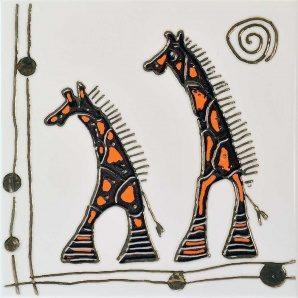 Плитка декоративная АТЕМ Orly Giraffe W 200х200 мм